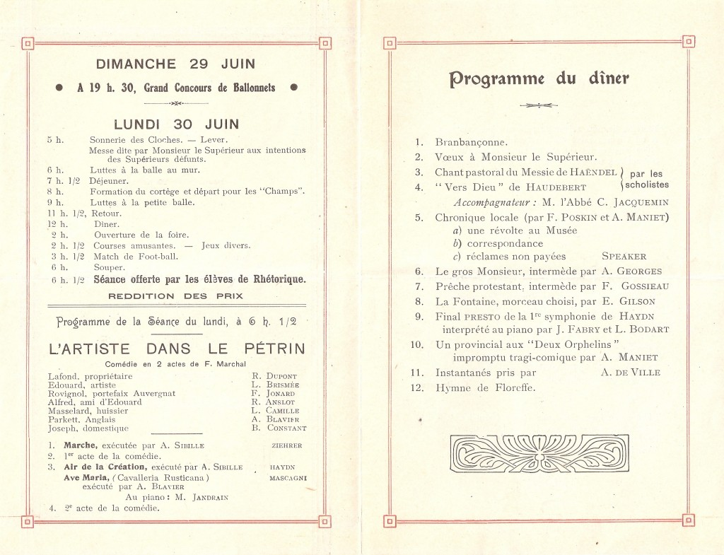 fête de Monsieur le Supérieur 1930 (2)