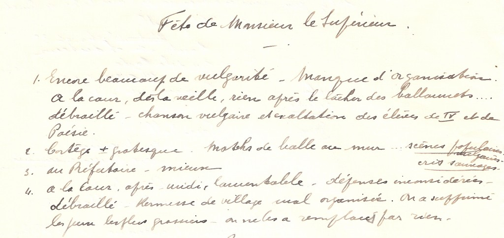 fête de Monsieur le Supérieur 1930 (3)