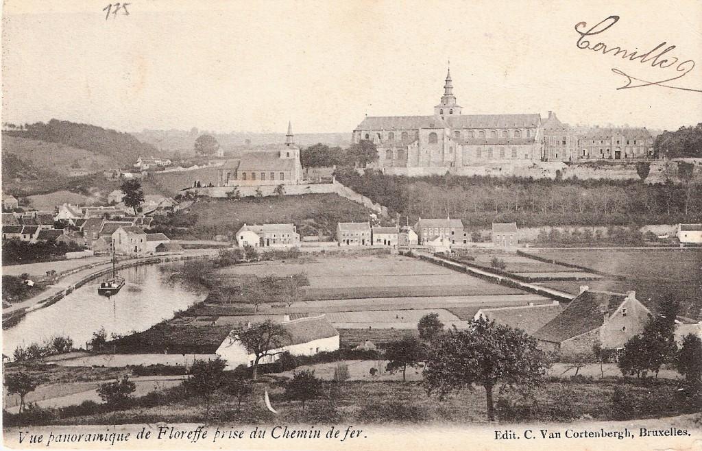vue de Floreffe prise du chemin de fer